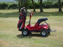 Electric golf buggy side view