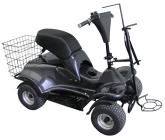 Electric Golf Buggy In Black